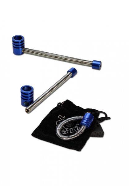 twister Pfeife aus Metall blau