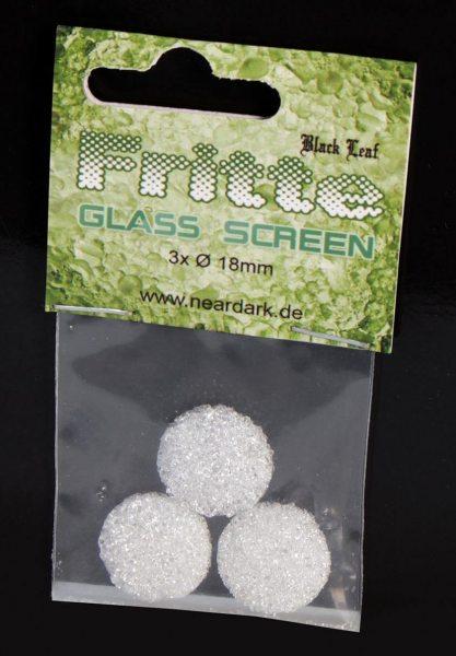 Black Leaf Fritte-Siebe aus Glas Ø 18mm